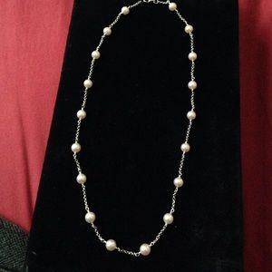 "Jewelry - Cultured single strand Pearls.  Pinkish hue.16"". I"